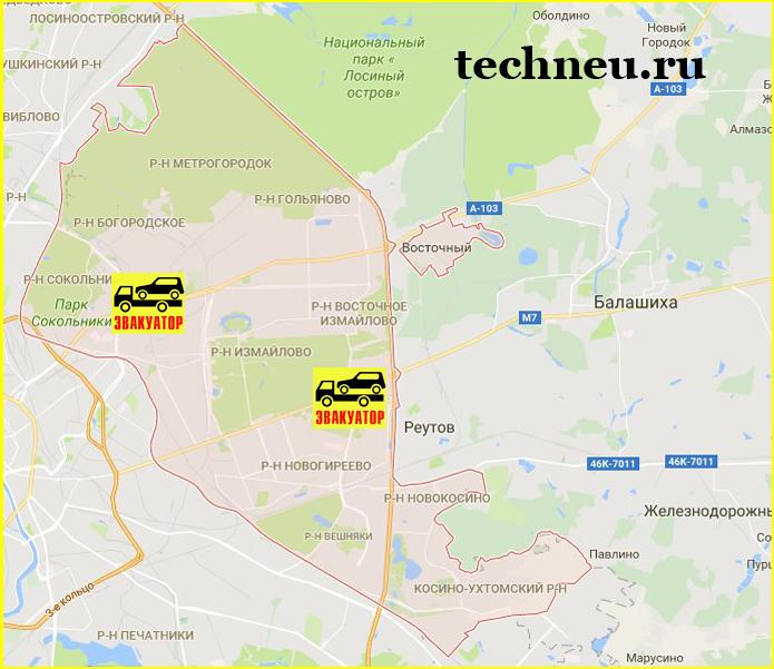 карта ВАО