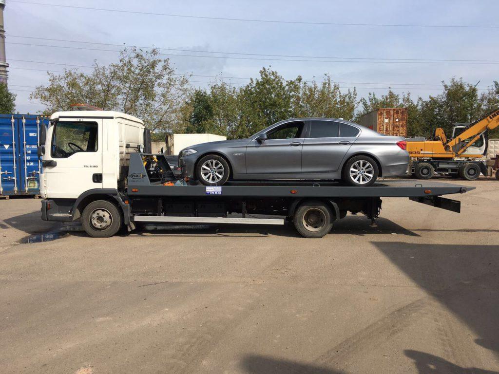 Транспортировка эвакуатором из Новомосковска в Москву и обратно